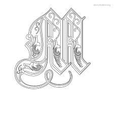 stencil letters m printable free m stencils stencil letters org