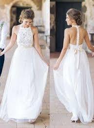 simple jewel sleeveless chiffon lace top wedding dress lace tulle