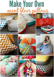 Diy Patio Cushions Make Your Own Floor Pillows Also Dimensions Of Oversized Outdoor