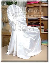 White Universal Chair Covers White Satin Universal Chair Cover For Wedding Party Chair Covers