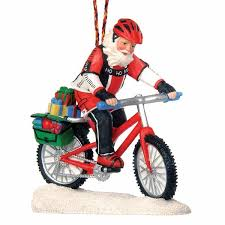 santa mountain bike ornament outdoor gifts outdoor themed