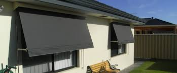 Awning Blinds Automatic Rollup Outdoor Blinds