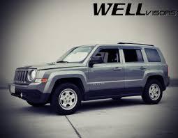 jeep patriot nerf bars jeep patriot 2007 2016 smoked side window vent visors deflectors
