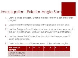Interior Angles Calculator Do Now Take Out Your 5 1 Worksheet And Put It On Your Desk Ready