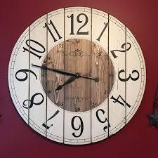 Wall Clock 28 Inch Farmhouse Clock Rustic Wall Clock Large Wall Clock