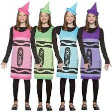 crayola crayon tank dress tween costume funny fancy