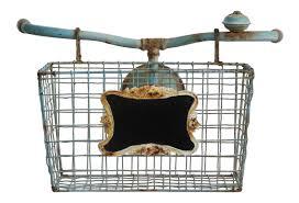creative co op garden tin open weave bike basket wall décor