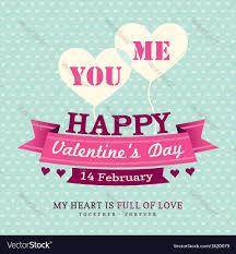 Invitation Card Valentines Invitation Card Design Template Ribbon Vector Image