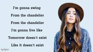 Lyrics Of Chandelier By Sia Chandelier Sia Cover By Jasmine Thompson Lyrics Youtube