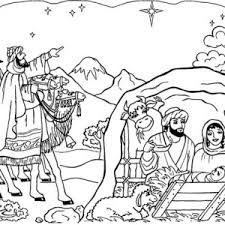 bible story born jesus nativity coloring color