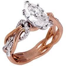 marquise diamond engagement ring simon g organic intertwining twist marquise diamond engagement ring
