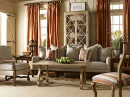 Orange Leather Sofa Set Furniture Amazing Country Style Living Room Furniture Set With