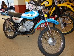 vintage siege oldmotodude suzuki 125 dual sport on display at the 2015 siege