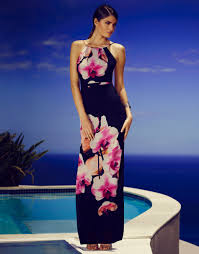lipsy cami top floral maxi dress in pink lyst
