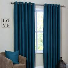 Sheer Blue Curtains Exclusive Fabrics Teal Hand Woven Cotton Blend Curtain Panel Dark