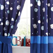 Ready Made Children S Curtains Kids Space Mission Blackout Pencil Pleat Curtains Dunelm Gios