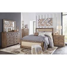 Pine  Gray Casual Rustic  Piece King Bedroom Set Willow RC - Rc willey bedroom set deal