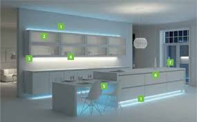 Led Lights Kitchen Eye Catching Kitchen Ideas Led Light Cabinet Warm Yellow For
