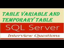 Temp Table Sql Server Sql Server Interview Question Table Variable And Temporary Table