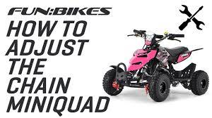 adjust the chain tension on funbikes 49cc kids mini quad bike on vimeo