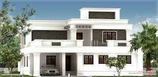 Kerala Home Design Plan And Elevation Flat Roof Homes Designs Flat Roof Villa Exterior In 2400 Sq Feet
