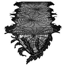 halloween table runner pattern hyde and eek boutique halloween spider web lace table runner