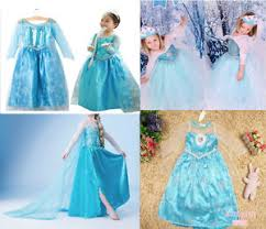 frozen costumes frozen costume dress elsa 2 12 years dress up elsa costumes