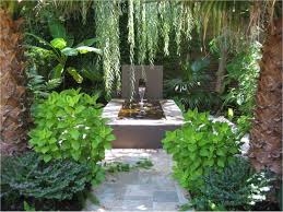 Courtyard Ideas Chic And Green Courtyard Garden With Water Feature Idea For Fresh
