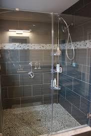 charcoal black pebble tile pebble tile shower pebble tiles and