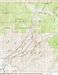 Topographical Map Of New Mexico by Topographic Map Of Sabino Canyon Recreation Area Arizona