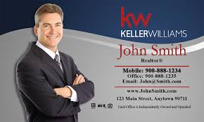 Keller Williams Business Cards Williams Business Card Gray And Blue Design 103071