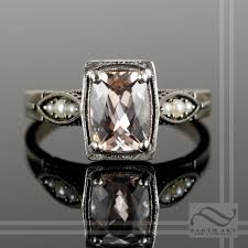 art silver rings images Buy a hand made 14k art deco morganite and pearl engagement ring jpg