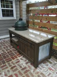 Big Green Egg Table Dimensions The Lowcountry Lady Big Green Egg The Perfect Table