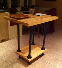 build kitchen island table 51 diy table ideas built with pipe simplified building
