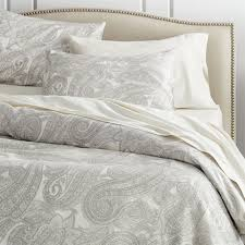 Light Blue And White Comforter Update Bedrooms With Stylish Duvet Covers Crate And Barrel