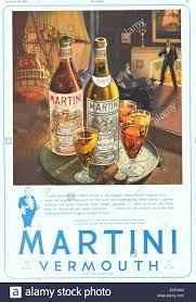 martini rossi poster 1930s uk martini magazine advert stock photo royalty free image