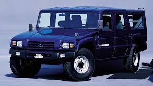 hummer japan wanted its own hummer so toyota built the mega cruiser