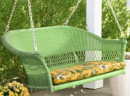 hanging resin wicker porch swings and accessories outdoor room ideas