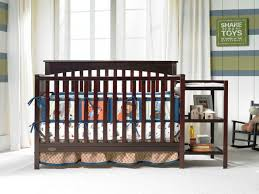 baby crib attached to bed trends of baby crib with attached changing table rs floral design