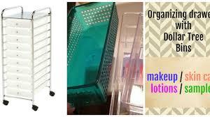 organizing a rolling cart with dollar tree bins cheap bathroom