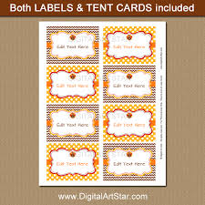 thanksgiving labels thanksgiving tent cards and labels brown and yellow digital
