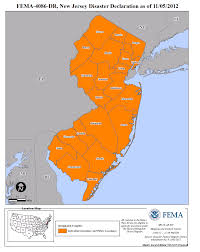 Map Of New Jersey And New York by New Jersey Hurricane Sandy Dr 4086 Fema Gov