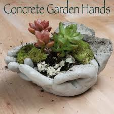 Diy Garden And Crafts - these concrete hands will be the cutest part of your garden