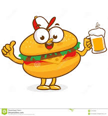 cartoon beer hamburger clipart burger beer pencil and in color hamburger