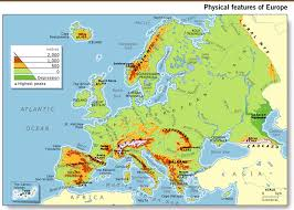 physical map of spain unit 1 geography of europe 6th grade social studies