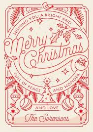 merry little line drawing holiday card from minted com christmas