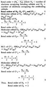 what is meant by the term bond order cbse class 11 chemistry