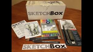 july 2017 premium sketchbox unboxing youtube