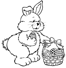 cute easter bunny coloring pages get coloring pages