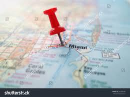 Map Of Miami Florida Closeup Map Miami Florida Red Pin Stock Photo 242499268 Shutterstock